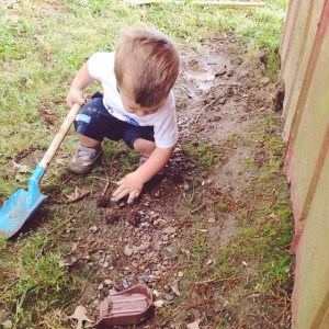 This boy is a mud and dirt magnet! Found a…