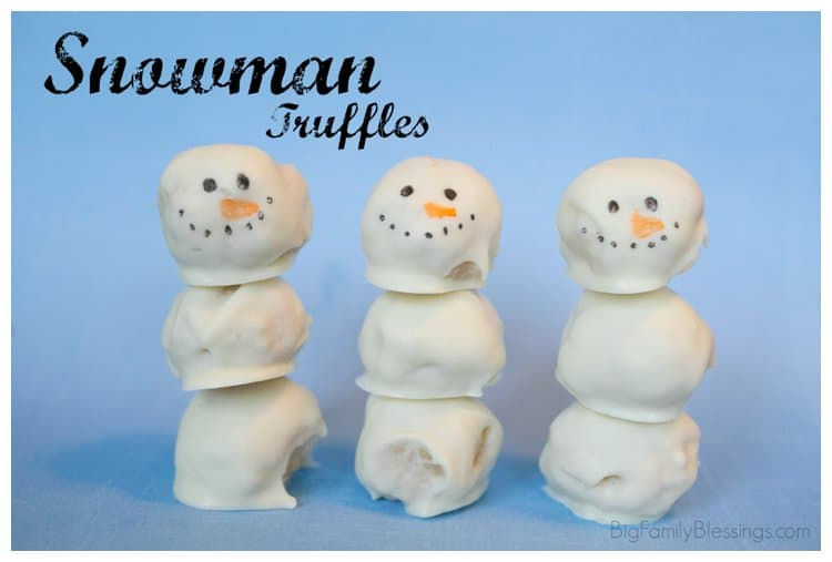 2014 01 19 0003 Snowman Truffles {Fun with Food}