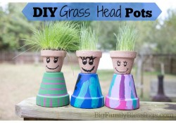 DIY Grass Head Pots