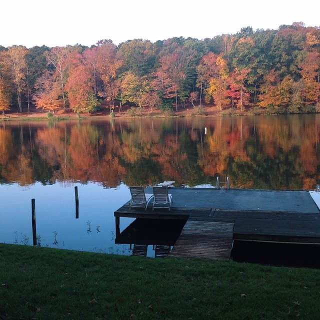 Amazing view this morning  #lakelife #lakehaven #fall