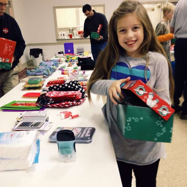 Operation Christmas Child packing party #operationchristmaschild