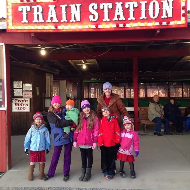 Christmas train time #meadowlights #christmasadventure