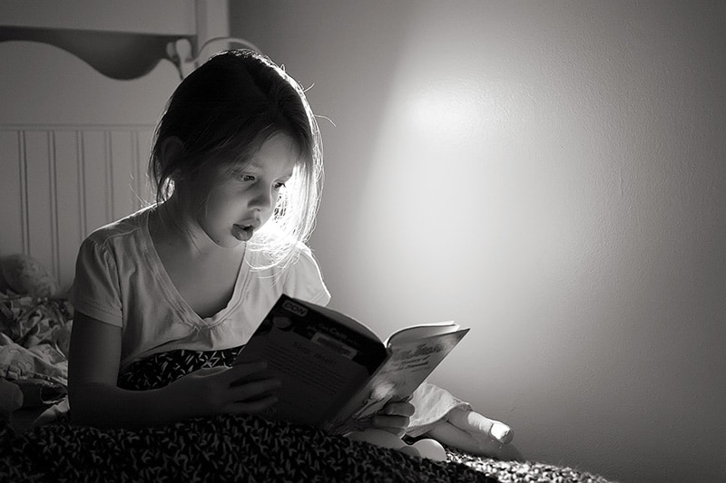 Rebekah Reading In Bed