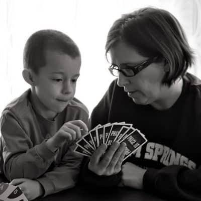 Wordless Wednesday- Playing Cards with Grandma