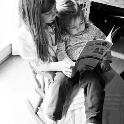 Wordless Wednesday- Reading Together