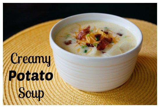 Creamy Potato Soup by BigFamilyBlessings.com