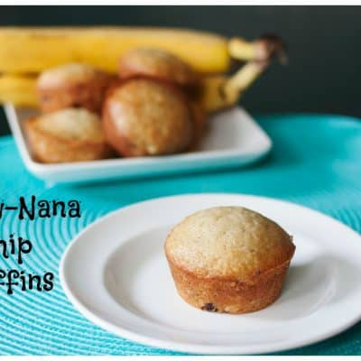 Straw-Nana Chip Muffins