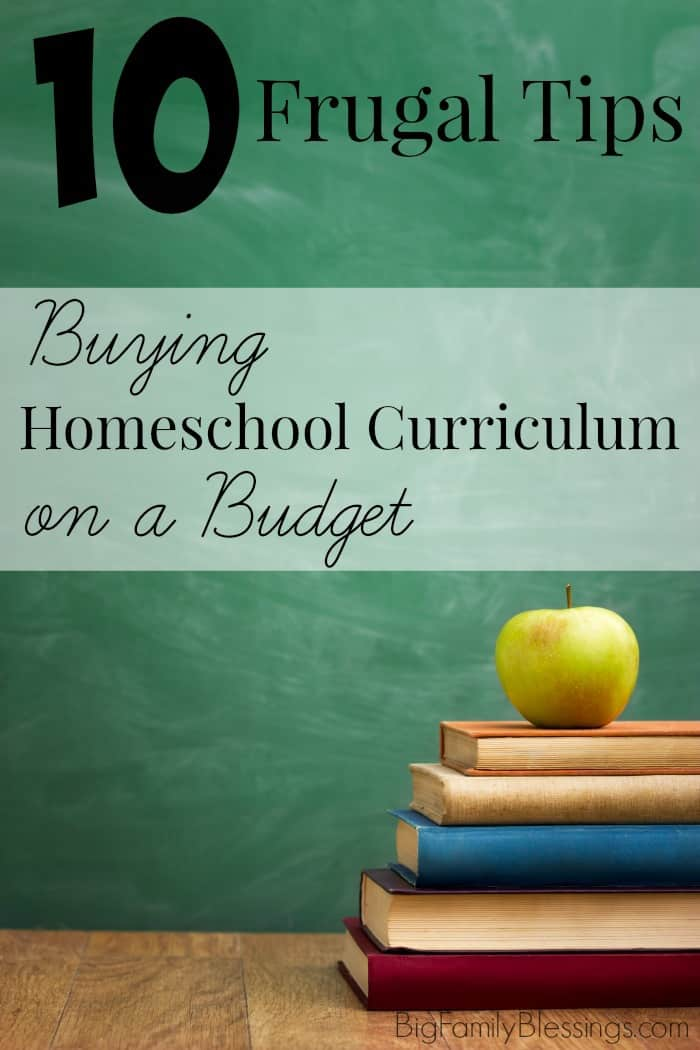 10 Frugal Tips for buying homeschool curriculum you ACTUALLY want on a budget. How to find the best deals on the curriculum you want for your student!
