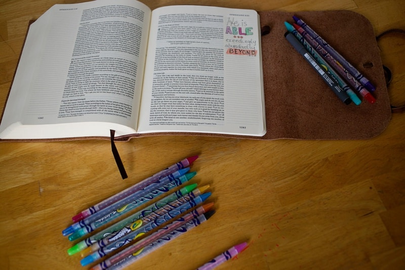 Bible Journaling inspiration from He is Able by Priscilla Shirer