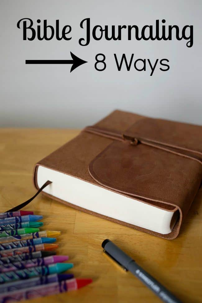 Bible Journaling for the beginner. 8 simple ways to get started today! Aren't artistic- there are great ways to use your journaling Bible anyway!