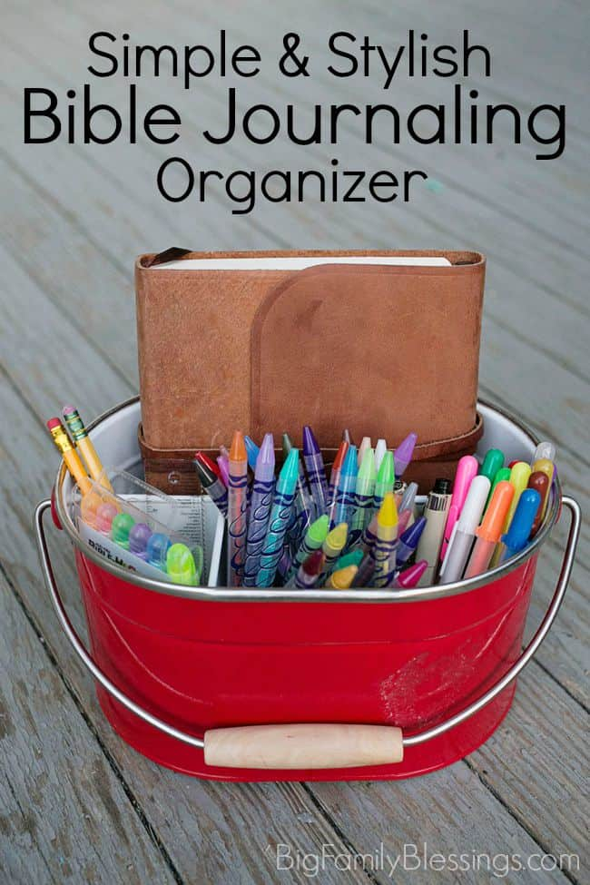 Simple & Stylish Bible Journaling Desktop Organization Ideas
