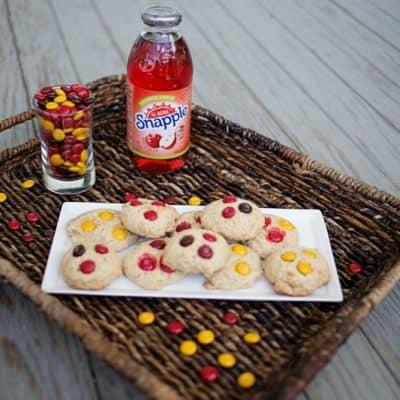 Easy, 4 Ingredient Cinnamon Roll M&M's® Cookies