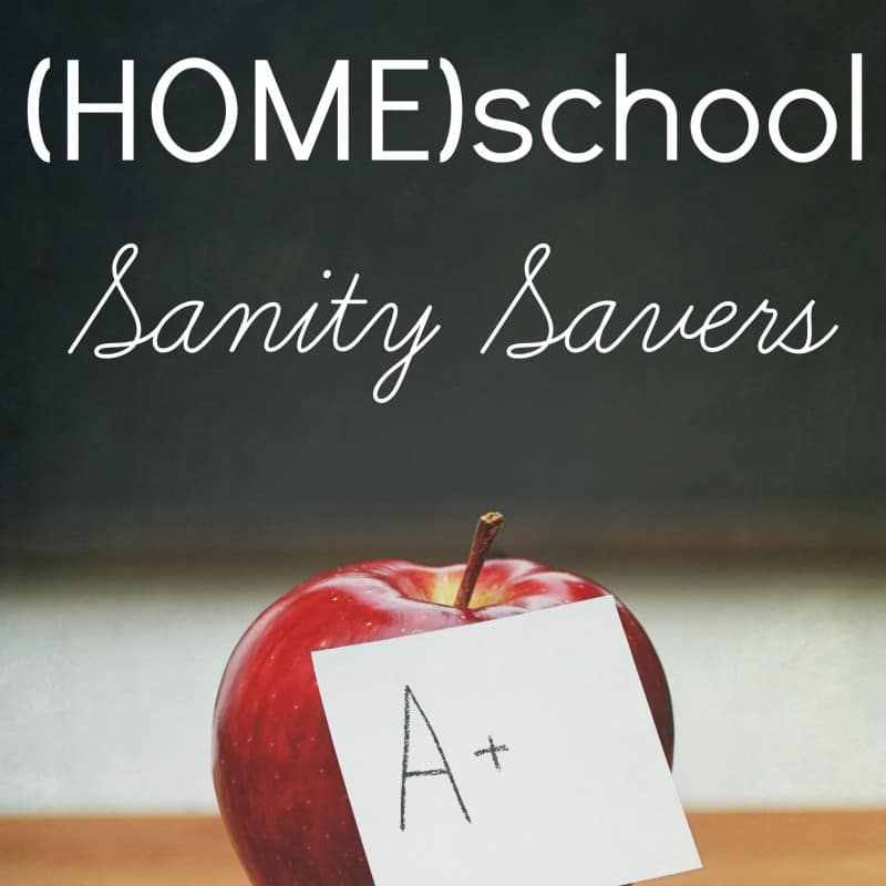 Back to (HOME)school Sanity Savers