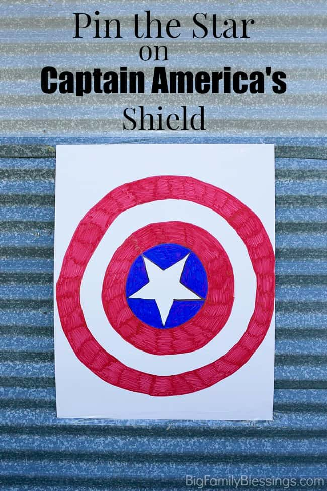 Pin the Star on Captain America's Shield party game tutorial. Great for Avenger theme birthday parties or halloween events!