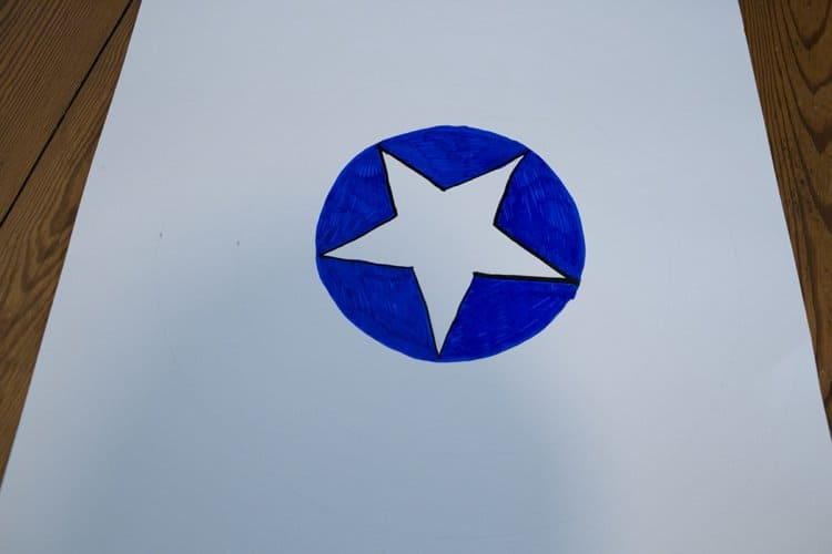 Pin the Star on Captain America's Shield Party Game