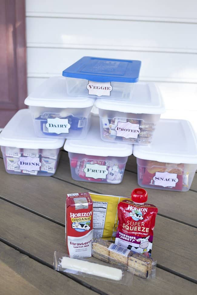 Create an Easy DIY Lunch Packing Station for under $10