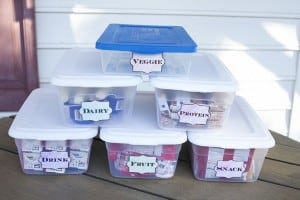 Create an Easy Lunch Packing Station for Under $10