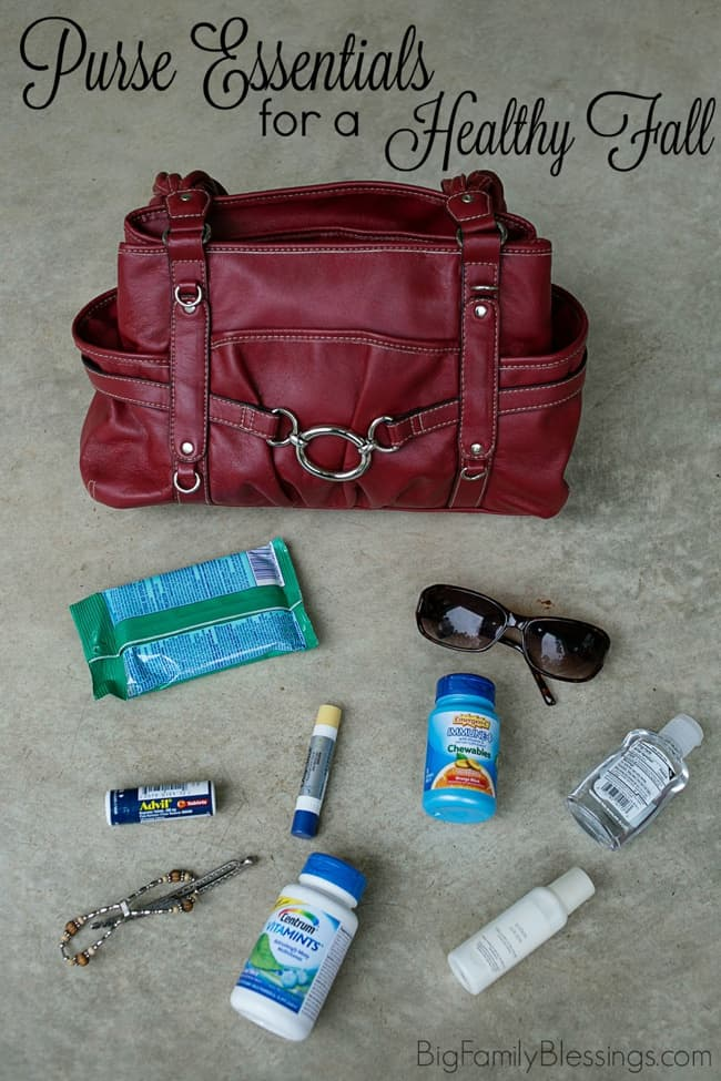 Purse Essentials for a Healthy Fall