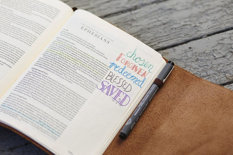 Bible Journaling Hacks for the Artistically Challenged. Great tips and tricks for making the most of your Bible Journal even if you aren't an artist.