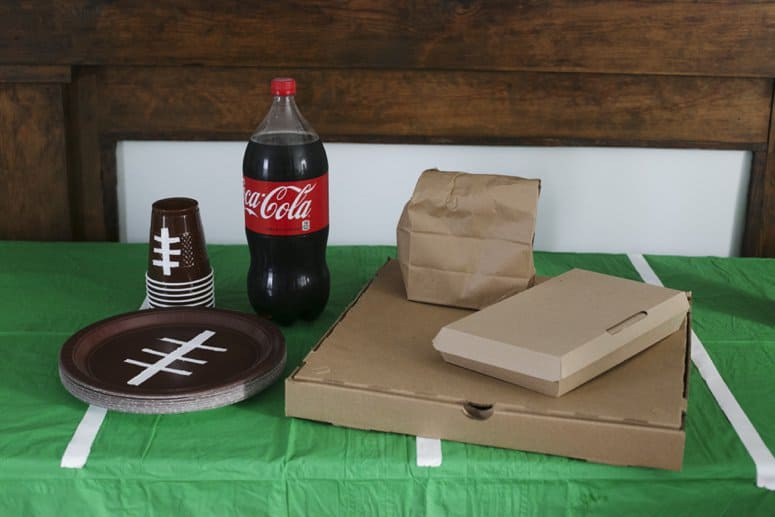 Easy DIY Football Paper Goods for Game Day Table Decor