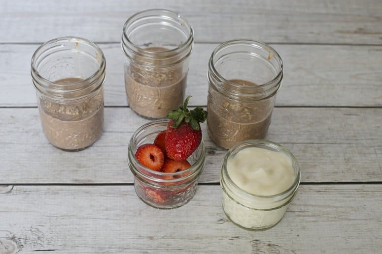 Strawberries & Chocolate Overnight Oats