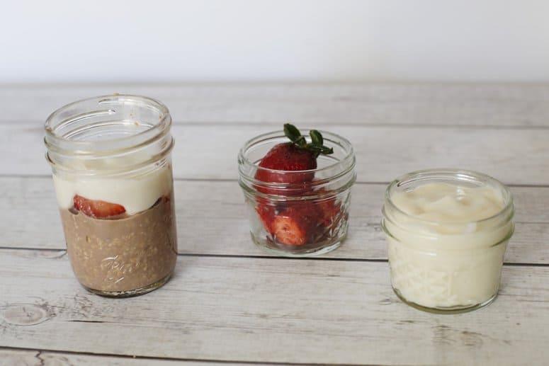 Strawberries & Chocolate Overnight Oats