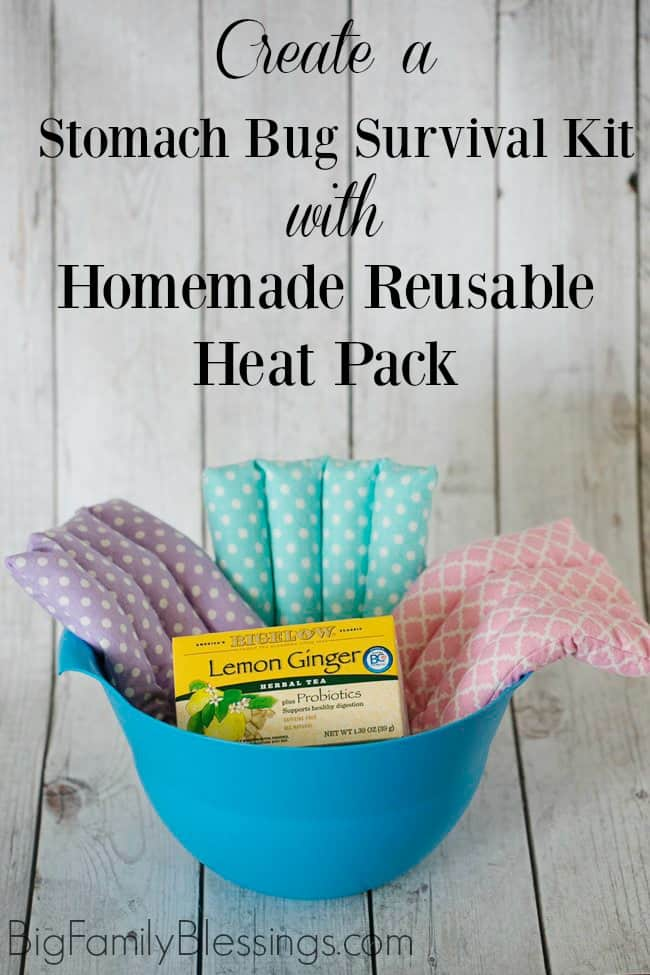 Create a Stomach Bug Survival Kit with Homemade Reusable Rice Heat Pack