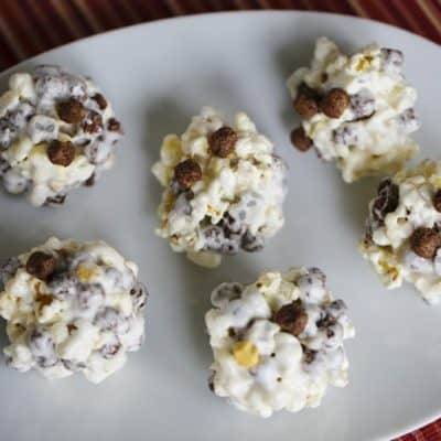 4 Ingredient Popcorn Cereal Balls