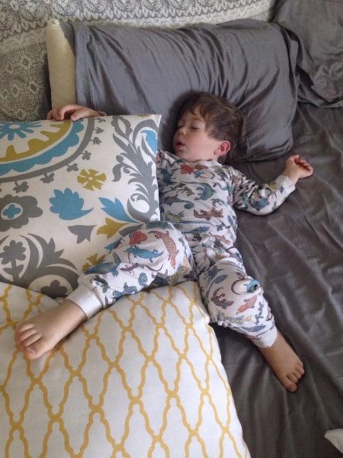 sick toddler sleeping