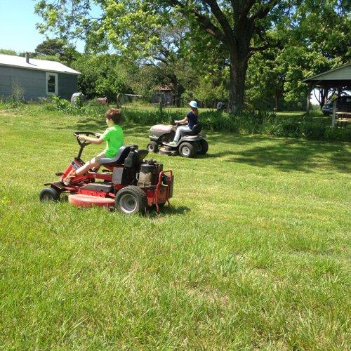 Dueling mowers