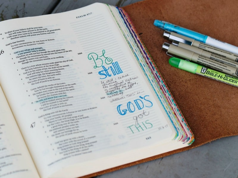 Are you ready to begin Bible Journaling, yet feel hesitant to write in your Journaling Bible for the first time? This post will help you learn how to start Bible journaling right now. Don't go one more day without beginning your own journaling adventure.