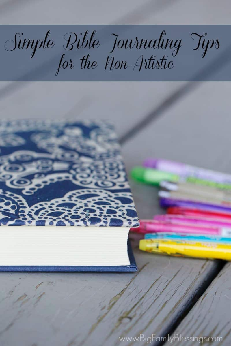 Simple Bible Journaling Tips for the Non-Artistic