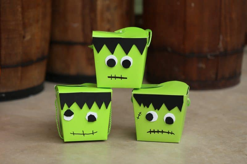 DIY Frankenstein Halloween Treat Box