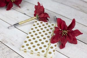 DIY Poinsettia Flower Pen