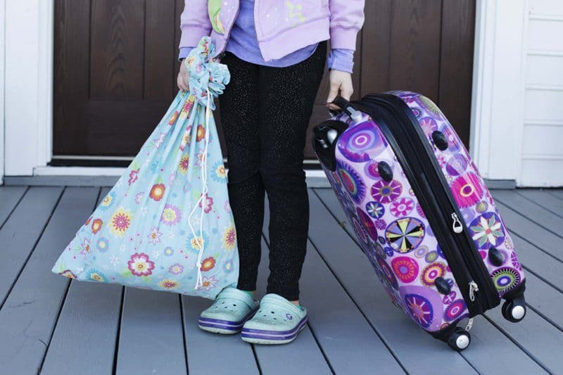 Easy DIY Travel Laundry Bag