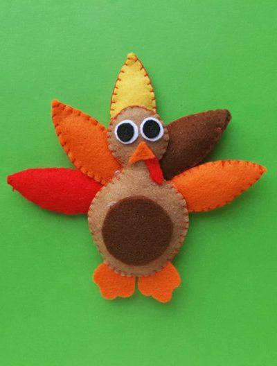 DIY Felt Turkey Plush