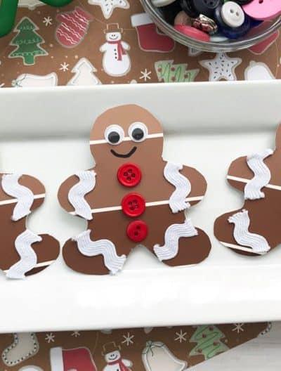 Paint Chip Gingerbread Man Christmas Craft