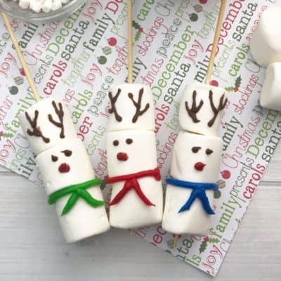 DIY Reindeer Marshmallow Stirrers