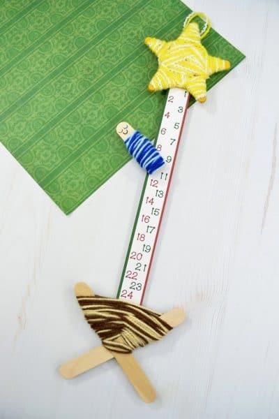 Adorable DIY Nativity Advent Countdown Calendar