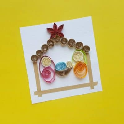 DIY Quilled Nativity Scene