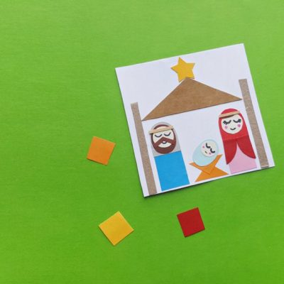 Shape Nativity Christmas Craft for Kids