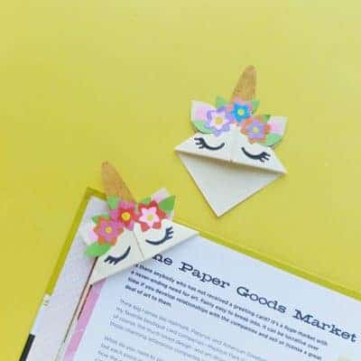 DIY Unicorn Corner Bookmark