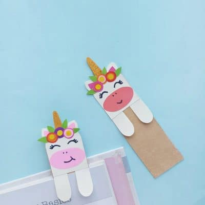 DIY Unicorn Hug Bookmark Craft