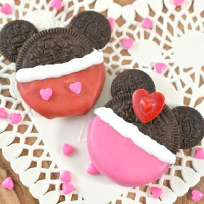 Mickey and Minnie Valentine's Day Cookies