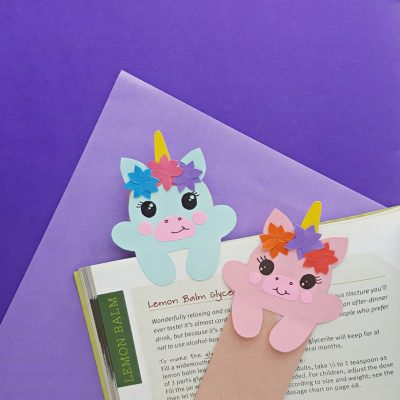Baby Unicorn Bookmark Paper Craft
