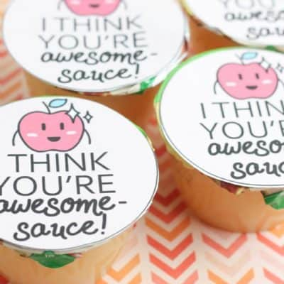 Awesome-sauce Candy-Free Printable Valentine
