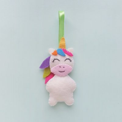 DIY Felt Unicorn Ornament