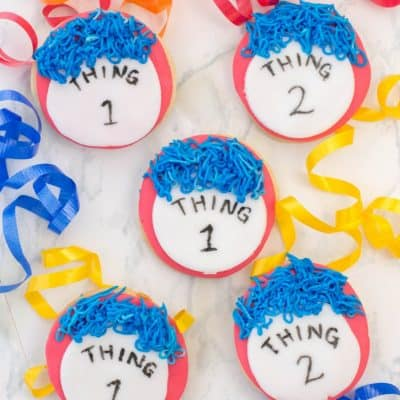 Thing One and Thing Two Cookies – Dr. Seuss Day Food