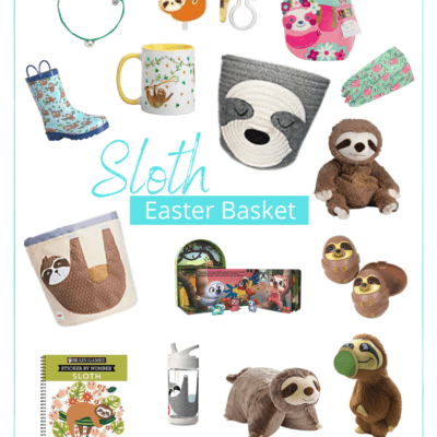 25+ Awesome Easter Basket Ideas for Sloth Loving Girls