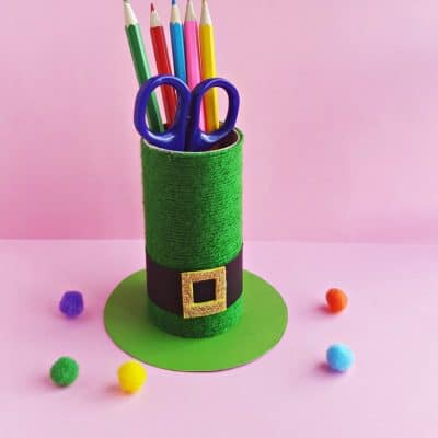 DIY St. Patrick's Day Leprechaun Hat Pencil Holder Craft